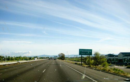 the road to yosemite